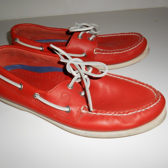 Sperry Other - Mens Red Sperry Top Sider Boat Shoes 10.5 M GC